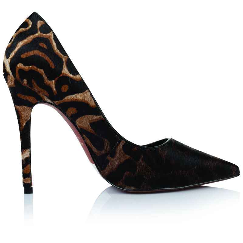 GIANNA High Court Leopard Ladies Heel  -  brown-black