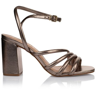 GIANNA Ladies Metallic Tubular Strap Heel