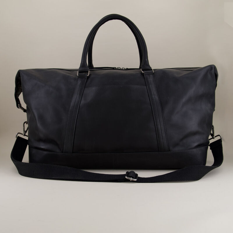 Rami Leather Weekender -  black