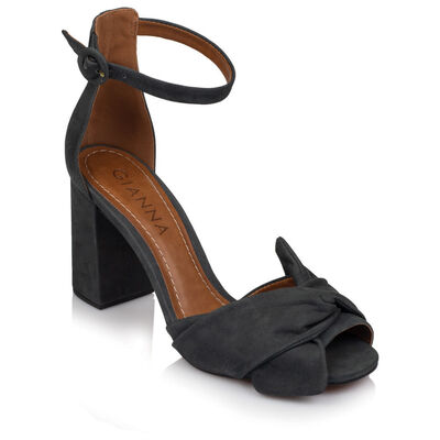 GIANNA Ladies Wrap Vamp Block Heel