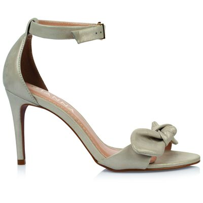 GIANNA ladies Metallic Bow  Heel